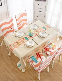 Fashion Kiss Fish (120 * 160cm Without Chair Cover) Printed Dustproof And Waterproof Household Tablecloth
