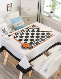 Fashion International Chessboard (without The Same Chair Cover) (140 * 210cm Without Chair Cover) Printed Dustproof And Waterproof Household Tablecloth