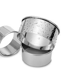 Fashion Flat Cut Three-piece Set Of Stainless Steel Round Pressed Dumpling Skin Mould