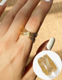 Fashion Golden Multilayer Winding Alloy Ring