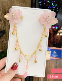 Fashion Pink Resin Crystal Bell Flower Chain Forehead With