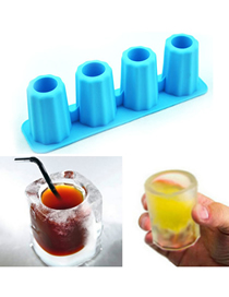 Fashion Blue Silicone Ice Mould For Rectangular Ice Cup