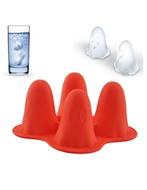 Fashion Red Ghost Halloween Plastic Ice Making Mold