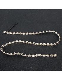 Fashion Golden Diamond-shaped Geometric Tassel Hairpin