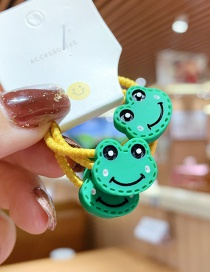 Fashion 3 Small Frogs Resin Animal High Elastic Children Hair Rope