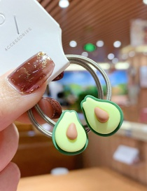 Fashion 1 Pair Of Avocado Fruit Resin Hit Color High Elasticity Children Hair Rope