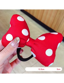Fashion Parent-child Large Hair Rope Fabric Big Butterfly Wave Dot Sponge Children Hair Rope