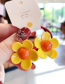 Fashion Yellow Flower Resin High-strength Hair Rope Set