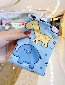 Fashion Blue Elephant Ultra-thin Sunscreen Printed Animal Flower Fruit Children Ice Sleeve