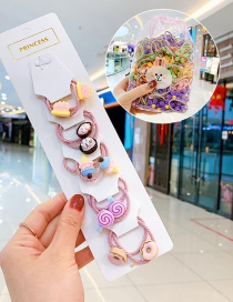 Fashion Donuts In 10 Bags Candy Animal Fruit Flower Contrast Elastic Hair Rope