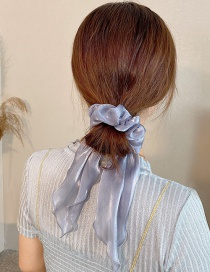 Fashion Bow Blue Satin Bow Bowtie Loop Hair Rope