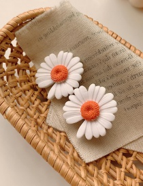Fashion White Small Daisy Alloy Hit Color Hairpin