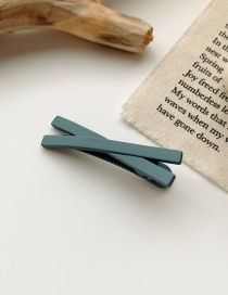 Fashion Blue Frosted Resin Cross Alloy Hairpin