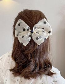 Fashion Beige Double-layer Bowknot Mesh Yarn Hair Clip