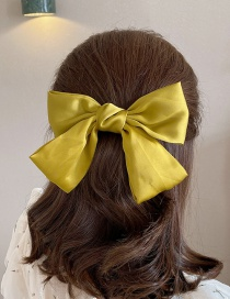 Fashion Yellow Bowknot Double Layer Fabric Hairpin