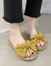 Fashion Yellow Bow Toe Sandals