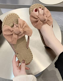 Fashion Pink Bow Toe Sandals