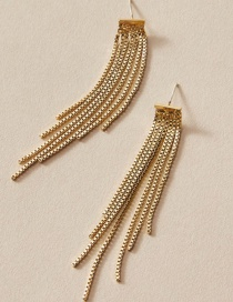 Fashion Gold Color Long Chain Tassel Alloy Earrings