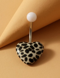 Fashion Love Leopard Stainless Steel Turquoise Alloy Resin Belly Button