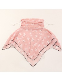 Fashion Butterfly Pink Breathable Chiffon Butterfly Wave Dot Print Ice Silk Thin Windproof Mask