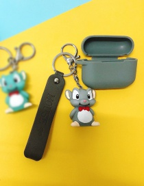 Fashion Squirrel + Gray Headphone Case (2nd Generation) Mouse Apple Wireless Bluetooth Headset Silicone Case
