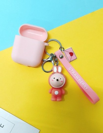 Fashion Pink Rabbit + Pink Headphone Case (2nd Generation) Animal Apple Wireless Bluetooth Headset Silicone Case