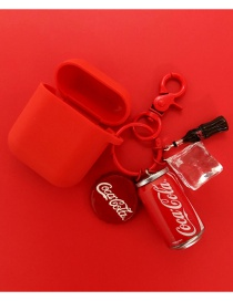 Fashion Palm Models + Red Earphone Sets Coke Bluetooth Wireless Headset Silicone Case