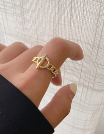Fashion Ot Buckle-gold (no. 7) Ot Buckle Opening Twist Gold-plated Diamond Ring