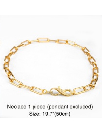 Fashion 8 Word Buckle Chain Thick Chain Copper Inlaid Zircon Geometric Letter Openwork Necklace