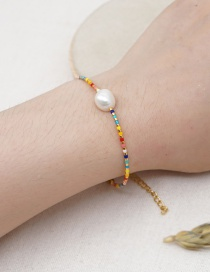 Fashion Color Mixing Imported Rice Beads Hand-woven Natural Freshwater Pearl Bracelet