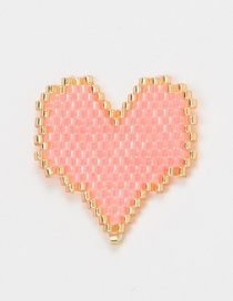 Fashion Pink + Gold Imported Mizhu Hand-woven Love Jewelry Accessories