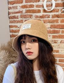 Fashion Camel Knitted Milk Silk Cloth Sunshade Fisherman Hat