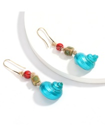 Fashion Blue Shell Alloy Turquoise Earrings