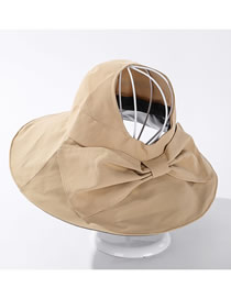 Fashion Khaki Bow-shade Solid Color Empty Top Hat