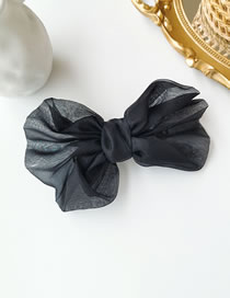 Fashion Black Net Yarn Big Butterfly Combined With Blonde Clip