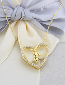 Fashion Gilded Boy Copper Plating Heart-shaped Alloy Necklace For Boys And Girls