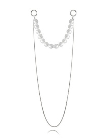 Fashion White K Pearl-like U-shaped Tassel Multi-layer Necklace