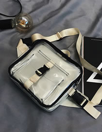 Fashion Off-white Without Duck Pvc Transparent Buckle Shoulder Messenger Jelly Bag