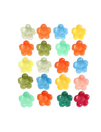 Fashion Mixed Colors (random Colors) 20 Sets Of Resin Alloy Flower Clips