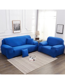 Fashion Navy Solid Color Stretch All-inclusive Fabric Slip Resistant Sofa Cover