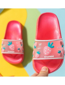 Fashion Watermelon Red Strawberry Transparent Fruit Non-slip Childrens Sandals And Slippers