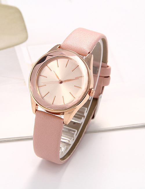 Fashion Pink Iris Dial Diamond Ladies Quartz Watch