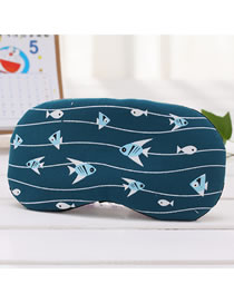 Fashion Dark Blue Cotton And Linen Printed Cold And Hot Pack Ice Pack Blinds