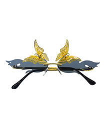 Fashion Black Butterfly Flame Alloy Hollow Sunglasses
