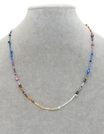 Fashion Color Mixing Imported Beaded Hand-woven Necklace