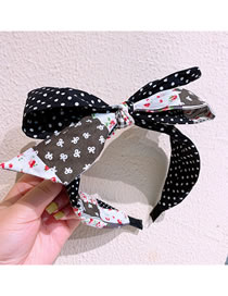 Fashion Floral + Little Small Floral Double-layer Bow Tie Stitching Lattice Dot Headband