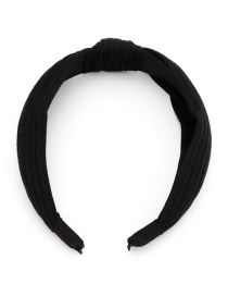 Fashion Black Knotted Knitting Cross Solid Color Headband
