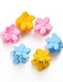 Fashion 6 Flower Hairpins Resin Flower Hit Color Grip