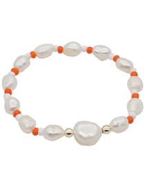 Fashion White Natural Freshwater Pearl Hand-woven Rice Bead Bracelet