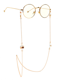 Fashion Golden Non-slip Fruit Pineapple Pearl Rhinestone Glasses Chain